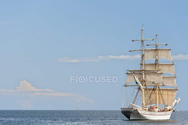 Sweden, Simrishamn, View of old sailing boat — Stock Photo