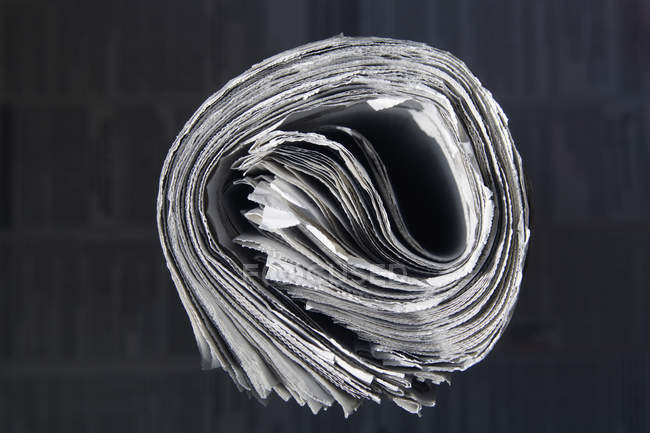 Germany, Bundle of newspapers, close up — Stock Photo