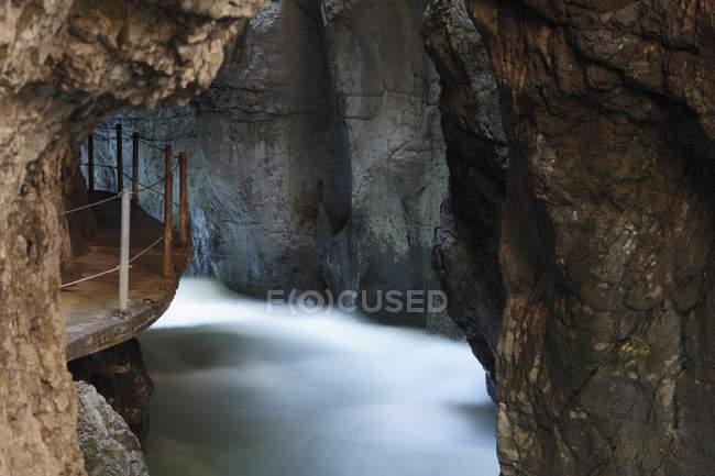 Germania, Baviera, gola Partnachklamm e cave — Foto stock