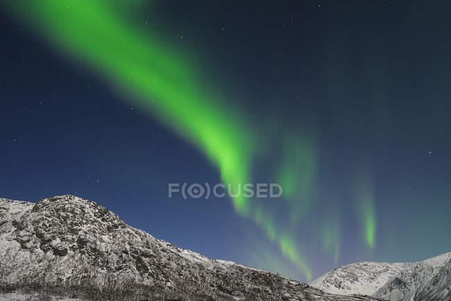 Aurora Borealis near Tromso — Stock Photo