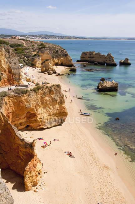 Portugal, Lagos, Praia da Dona Ana picturesque beach — Fotografia de Stock
