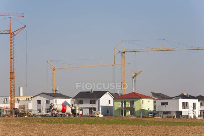 Germania, Baden Wurttemberg, Ludwigsburg, Costruzione di case — Foto stock