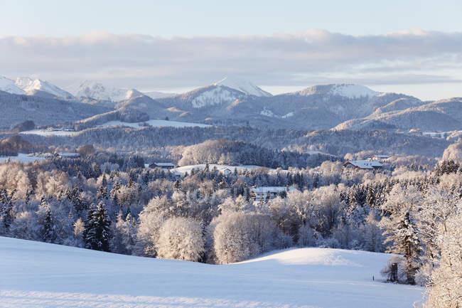 Предгорья Альп с горы Mangfallgebirge — стоковое фото