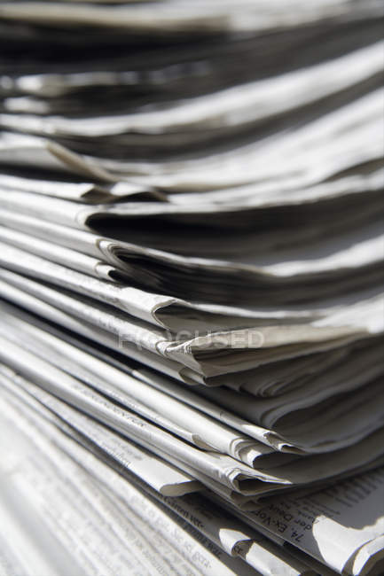 Germany, Stack of newspapers, close up — Stock Photo