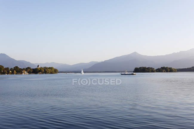 Germany, Bavaria, Upper Bavaria, Chiemgau, Frauenchiemsee and Krautinsel Island at Lake Chiemsee — Stock Photo