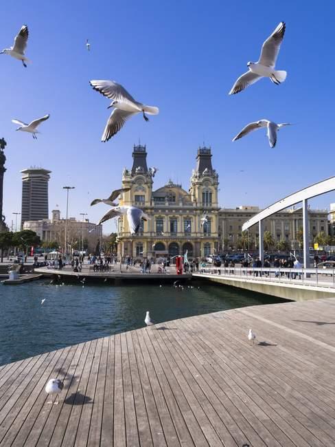 Spain, Barcelona, Port Vell, Former custom building — Stock Photo