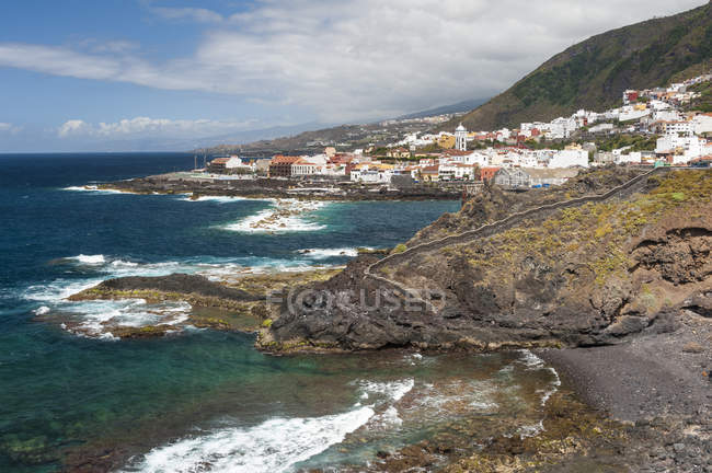 View of Garachico on the north coast, Tenerife, Canary Islands, Spain — Stock Photo