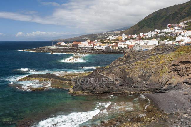 Vista de Garachico, na costa norte, Tenerife, Ilhas Canárias, Espanha — Fotografia de Stock