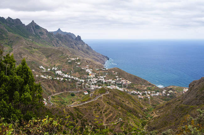 Spanien, Kanarische Inseln, Teneriffa, Küstenort Taganana — Stockfoto
