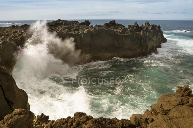 Portugal, Azores, Sao Miguel, Piscina naturale di Ferreira — Stock Photo