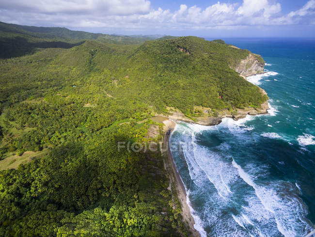 Caraïbes, Antilles, petites Antilles, Saint Lucia, Dennery, côte est, la baie de Chaloupe — Photo de stock