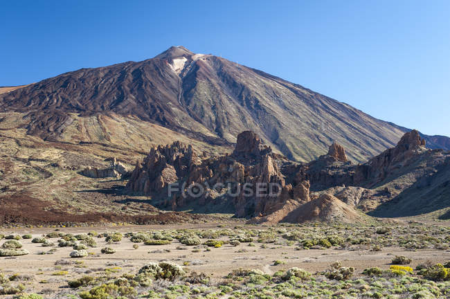 Spain, Canary Islands, Tenerife, Teide National Park, View of the volcano Teide — Stock Photo