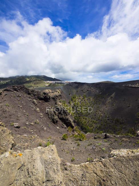 Іспанія, Канарські острови, Ла-Пальма, Fuencaliente, вулканічний кратер Сан-Антоніо, Канарські острова сосни, Сосна canariensis — стокове фото