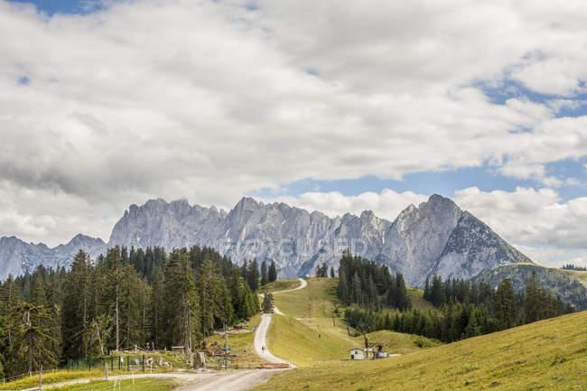 Austria, Gosau, View to Dachstein Mountains  during daytime — Stock Photo