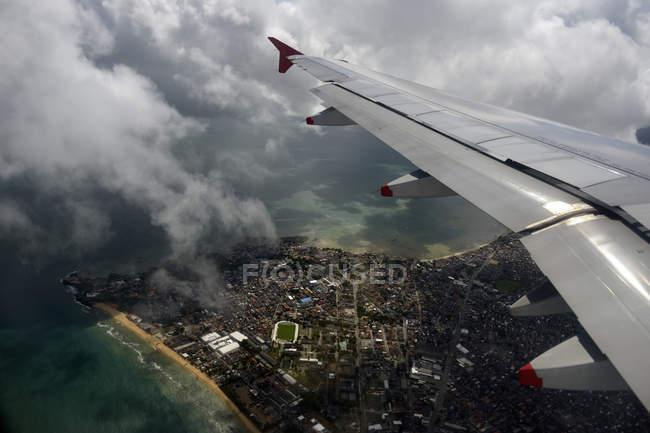 Brazil, Salvador da Bahia, aerial view with wing — Stock Photo