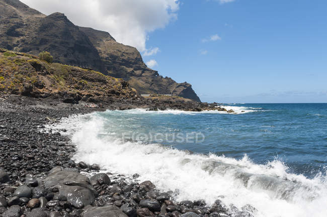 Spain, Canary Islands, Tenerife, Coast at Buenavista del Norte on the north coast — Stock Photo