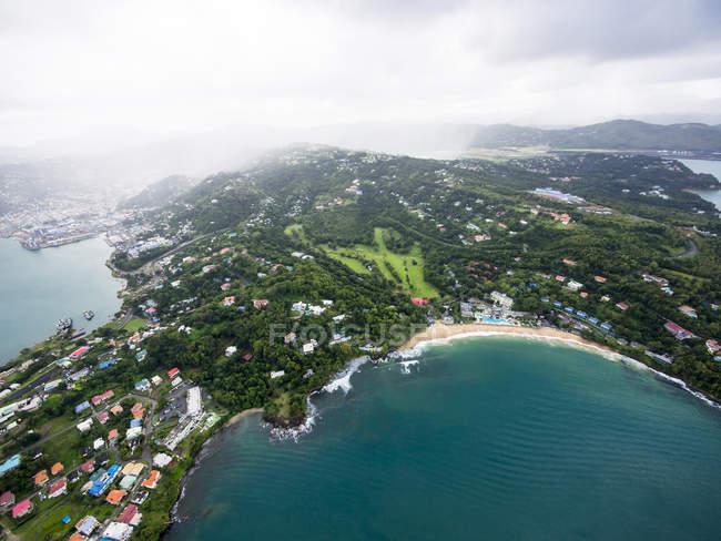 Photo aérienne des Caraïbes, Sainte-Lucie, de Castries — Photo de stock