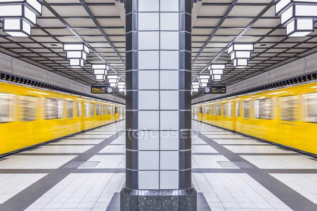 Берлин, станции метро — стоковое фото
