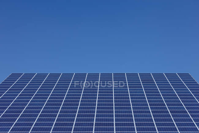 View of Solar panels at Photovoltaic park at daytime, Westerheim, Bavaria, Germany — Stock Photo