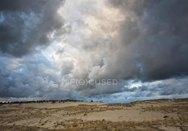 Lithuania, Storm cloudy sky — Stock Photo