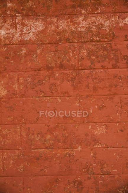 India, muro de ladrillo rojo, de cerca - foto de stock
