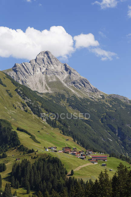 Гора Biberkopf в Lechleiten — стоковое фото
