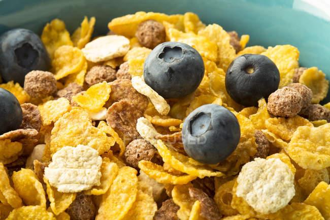 Tazón de cereales saludables, cerrar - foto de stock
