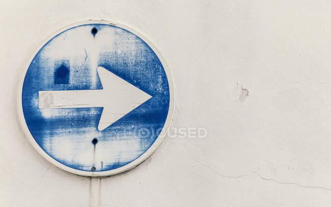 Spain, Arrow sign, close up — Stock Photo