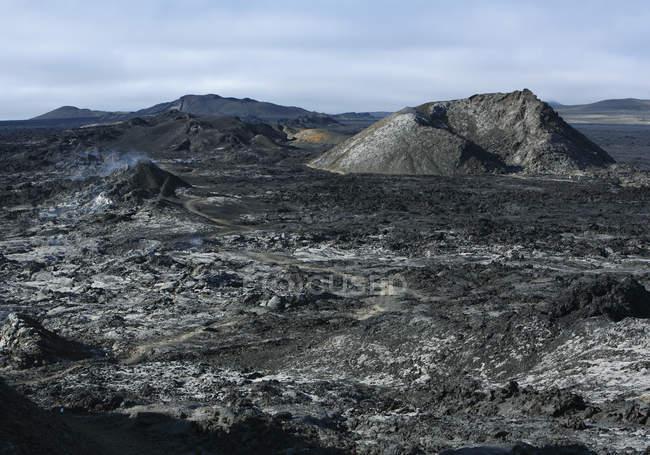 Ісландія, перегляд крапля і вулканічну — стокове фото