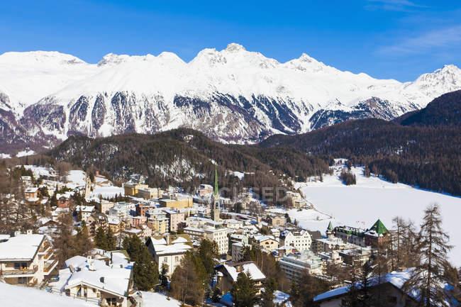 Switzerland, View of St Moritz townscape — Stock Photo