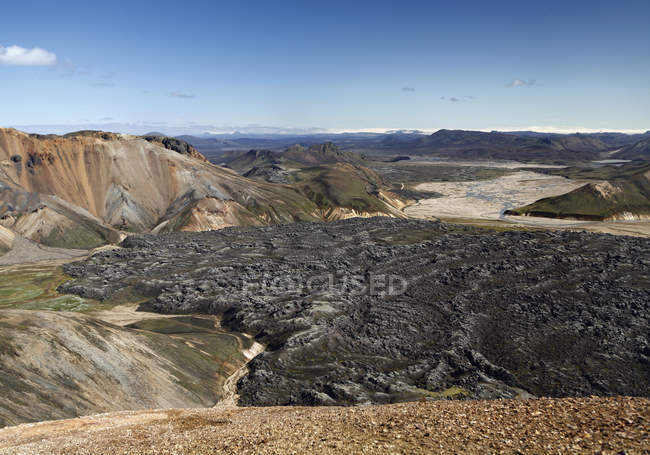 Iceland, View of Volcanic landscape during daytime — Stock Photo