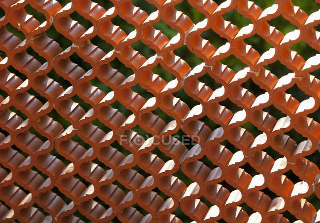 View of  Structure of red fence, close up — Stock Photo