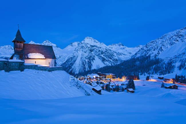 Svizzera, Veduta della chiesa Bergkirchli — Foto stock