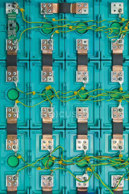 Lithium Ion Battery of electric vehicle — Stock Photo