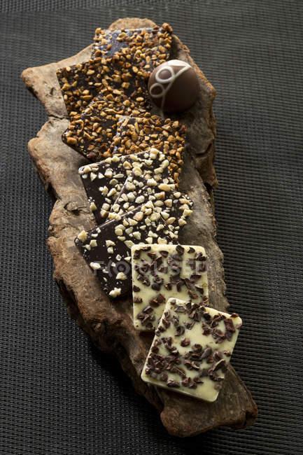 Variety of Praline chocolates, close up — Stock Photo