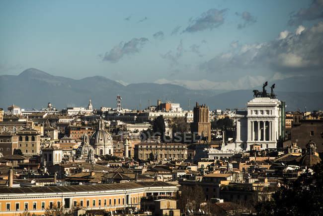 Italy, Rome, Piazza Venezia and Altare della Patria at Janiculum — Stock Photo