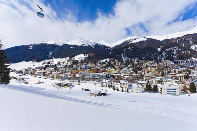 Svizzera, Veduta di Jakobshornbahn — Foto stock