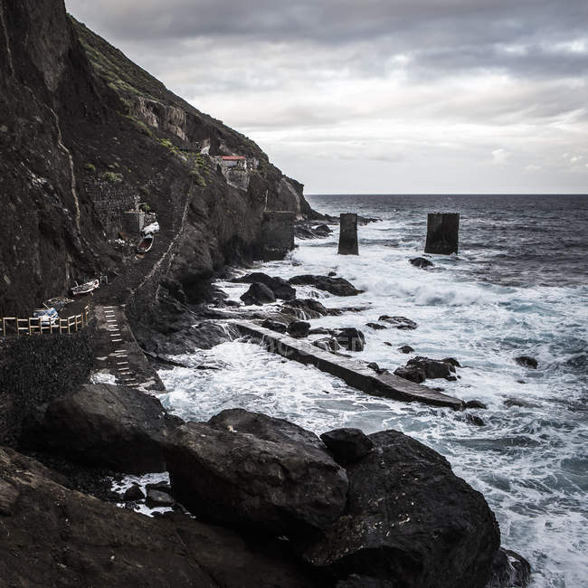 Spain, La Gomera, View of shipping station near Agulo  during daytime — Stock Photo