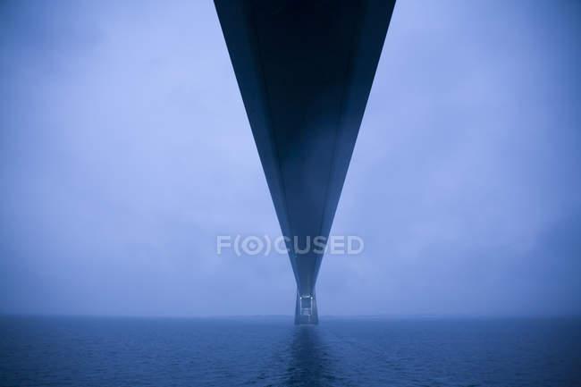 Danimarca, Great Belt Fixed Link corre tra le isole danesi e Funen . — Foto stock