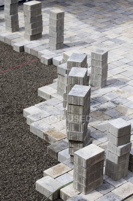 Germania, Renania Palatinato, Costruzione di pietre per pavimentazione — Foto stock