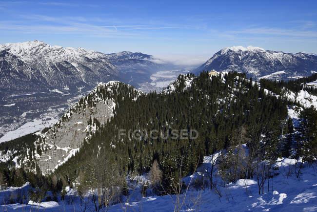 Deutschland, Bayern, Ammer und Ester Berge und das Tal der Loisach — Stockfoto