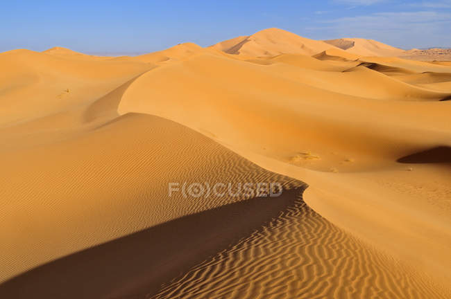 Nord-Afrika, Algerien, Blick auf Dünen im Erg Tibaradine — Stockfoto