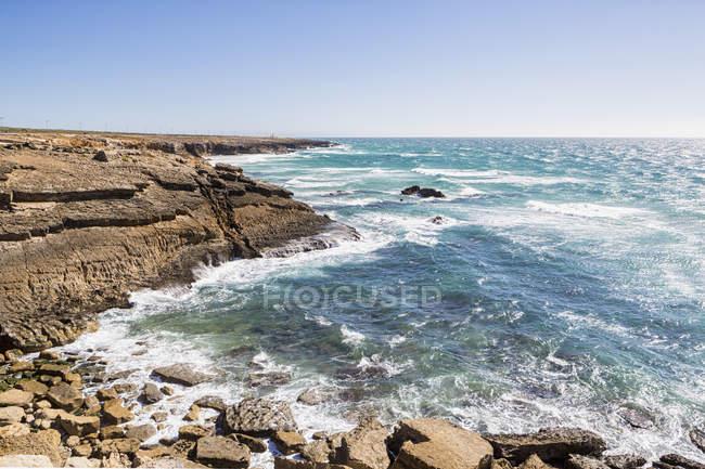 Португалія, вид на Атлантичний океан — стокове фото