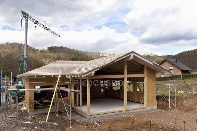 Європи, Німеччина, Рейнланд-Пфальц, Будівництво будівлі будинку — стокове фото