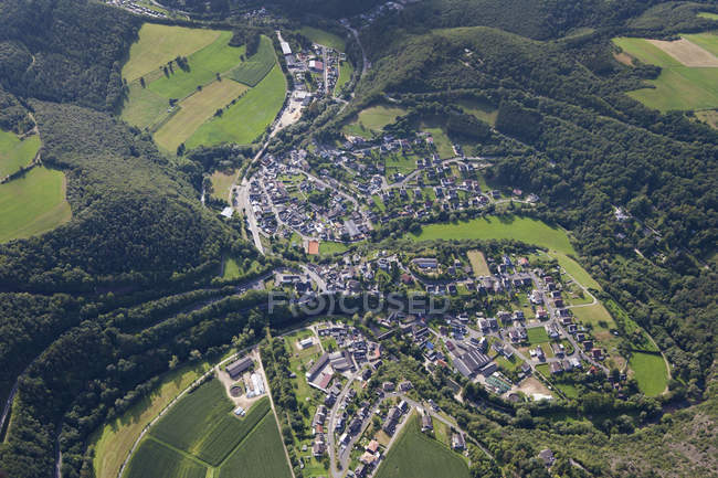 Europe, Germany, Rhineland Palatinate, View of village Schuld — Stock Photo