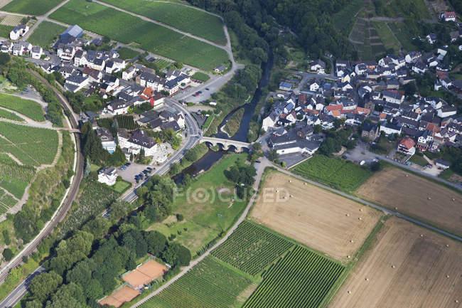 Europe, Germany, Rhineland Palatinate, View of Nepomuk and Rech — Stock Photo