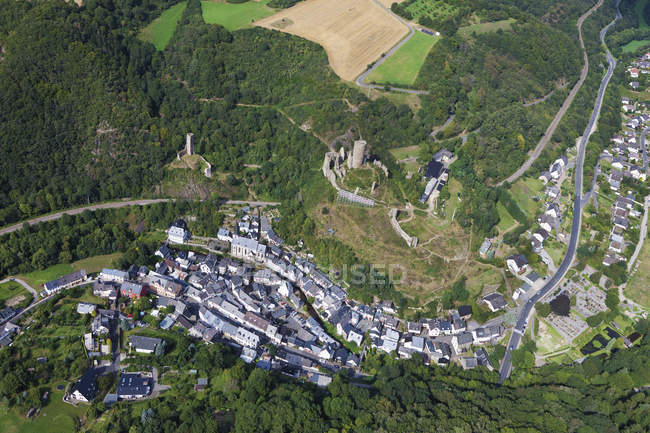 Europe, Germany, Rhineland Palatinate, View of city and castles — Stock Photo