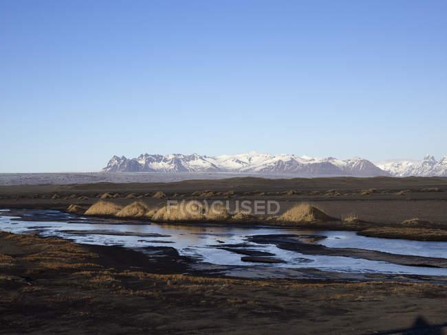 Island, Ansicht der Jökulsárlón Gletscher Lagune in der Nähe von Vatnajökull-Nationalpark — Stockfoto