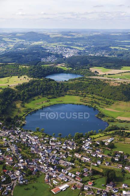 Europe, Germany, Rhineland Palatinate, View of Schalkenmehrener Maar — Stock Photo