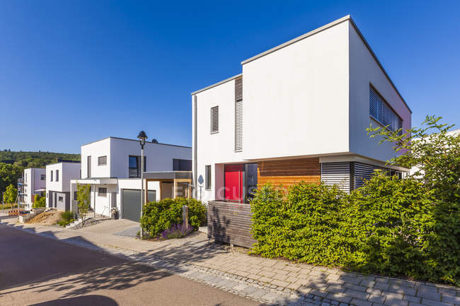 Germany, Esslingen-Zell. Development area with passive houses — Stock Photo